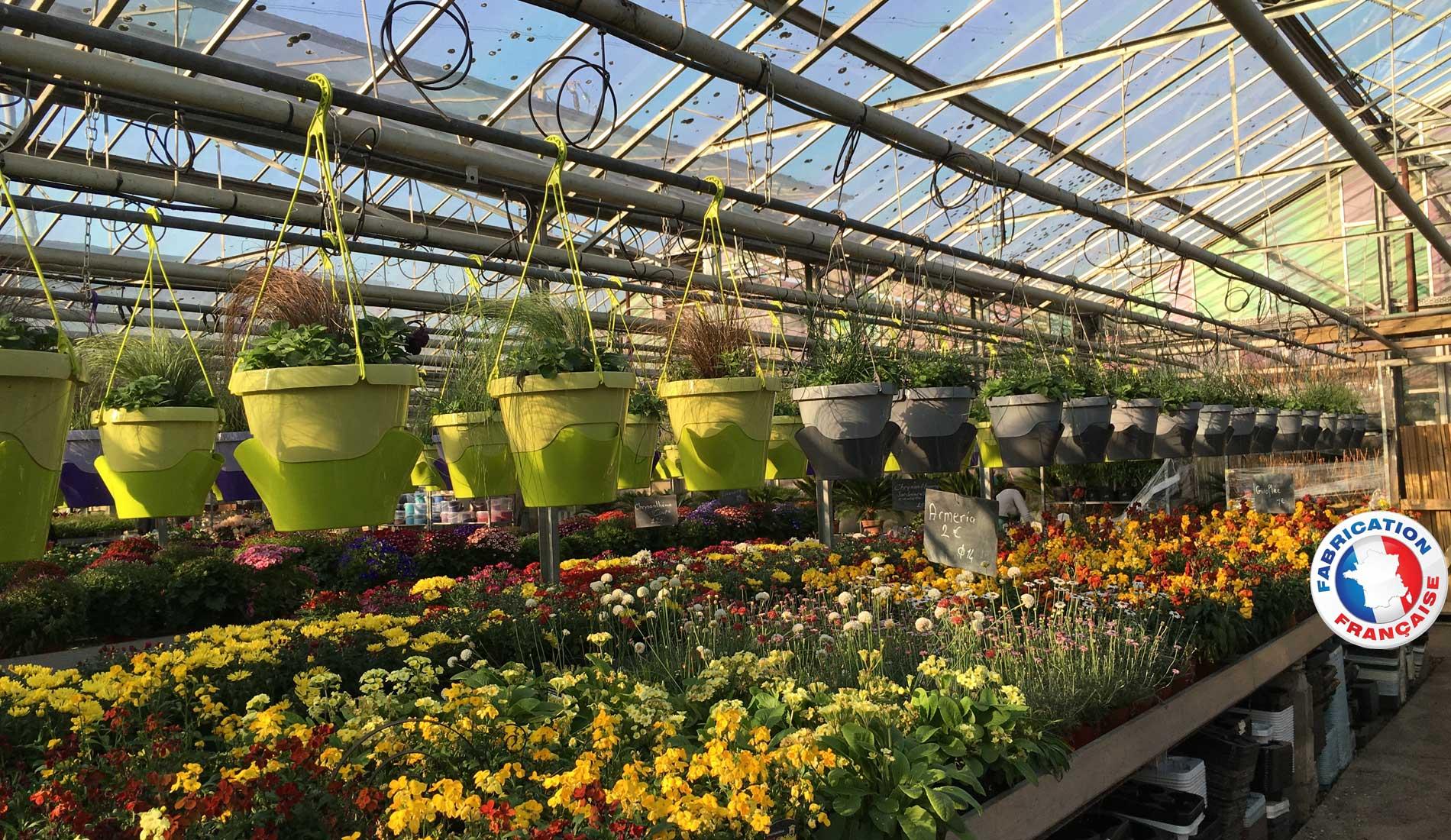 Serre avec pots de fleur Grigi-Techniplast